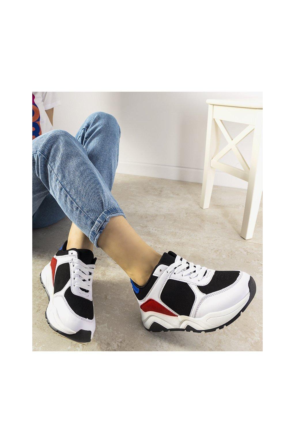 Dámske topánky tenisky biele kód E2021 - GM