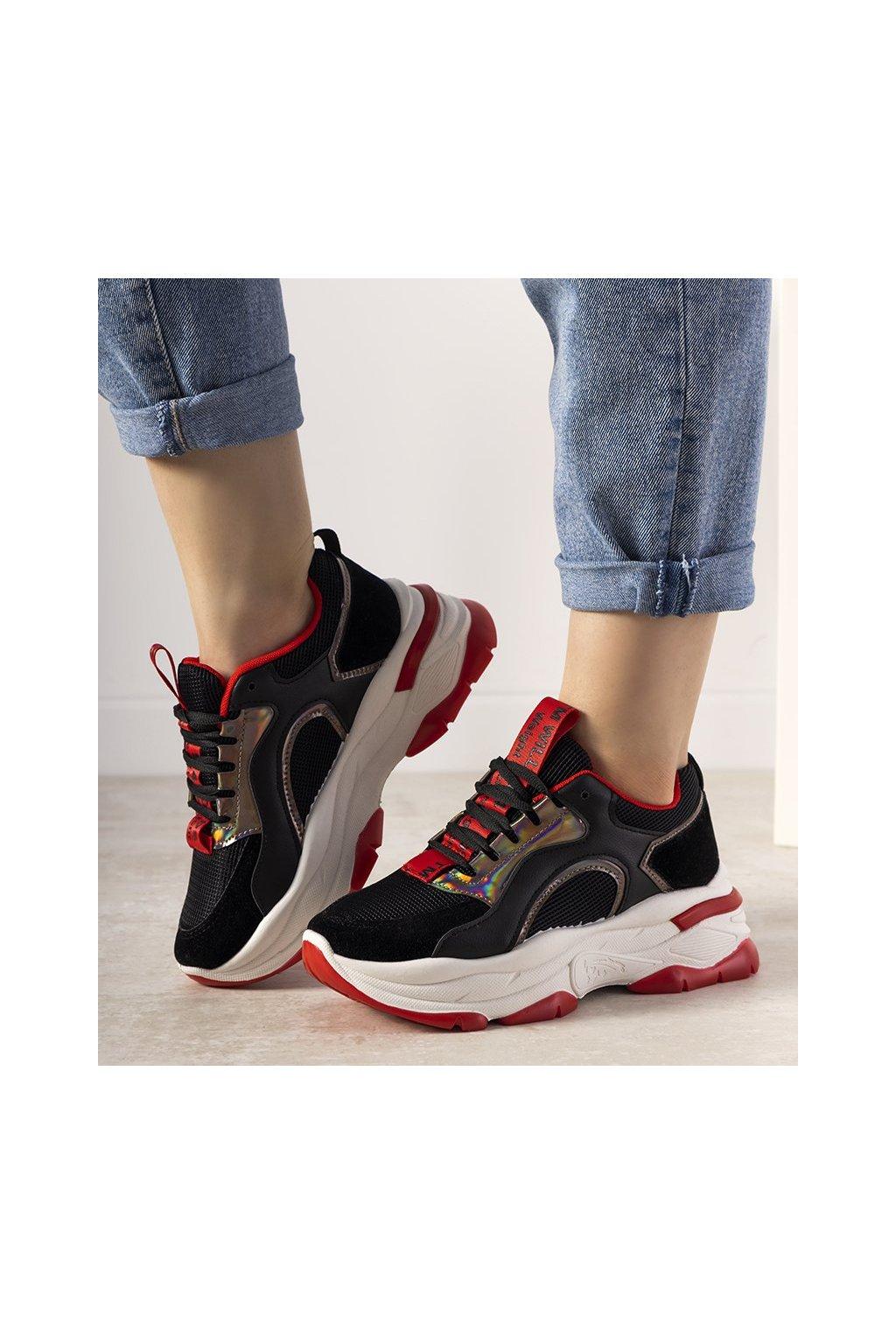 Dámske topánky tenisky čierne kód R12YD518-11 - GM