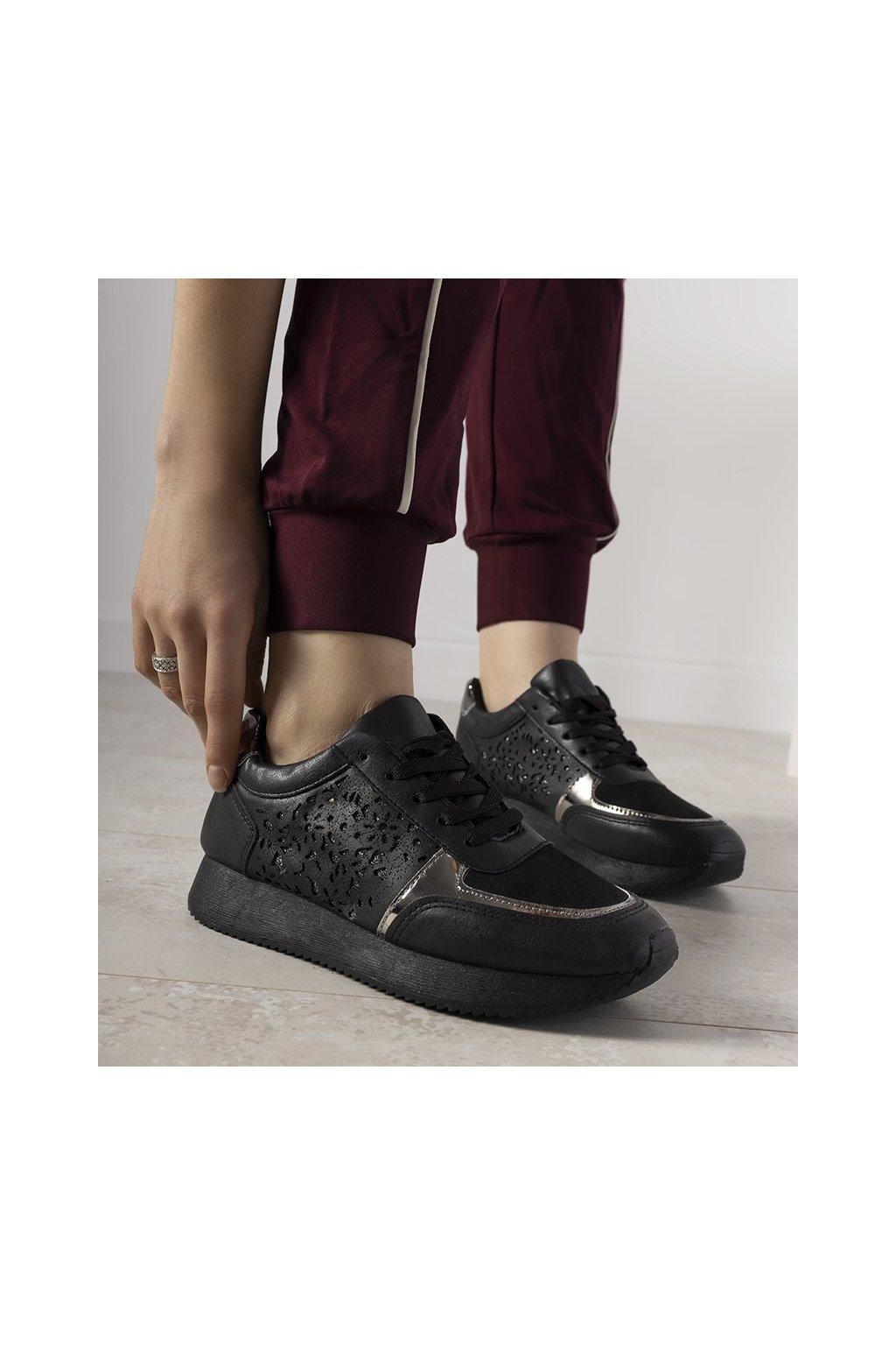 Dámske topánky tenisky čierne kód FB-113 - GM