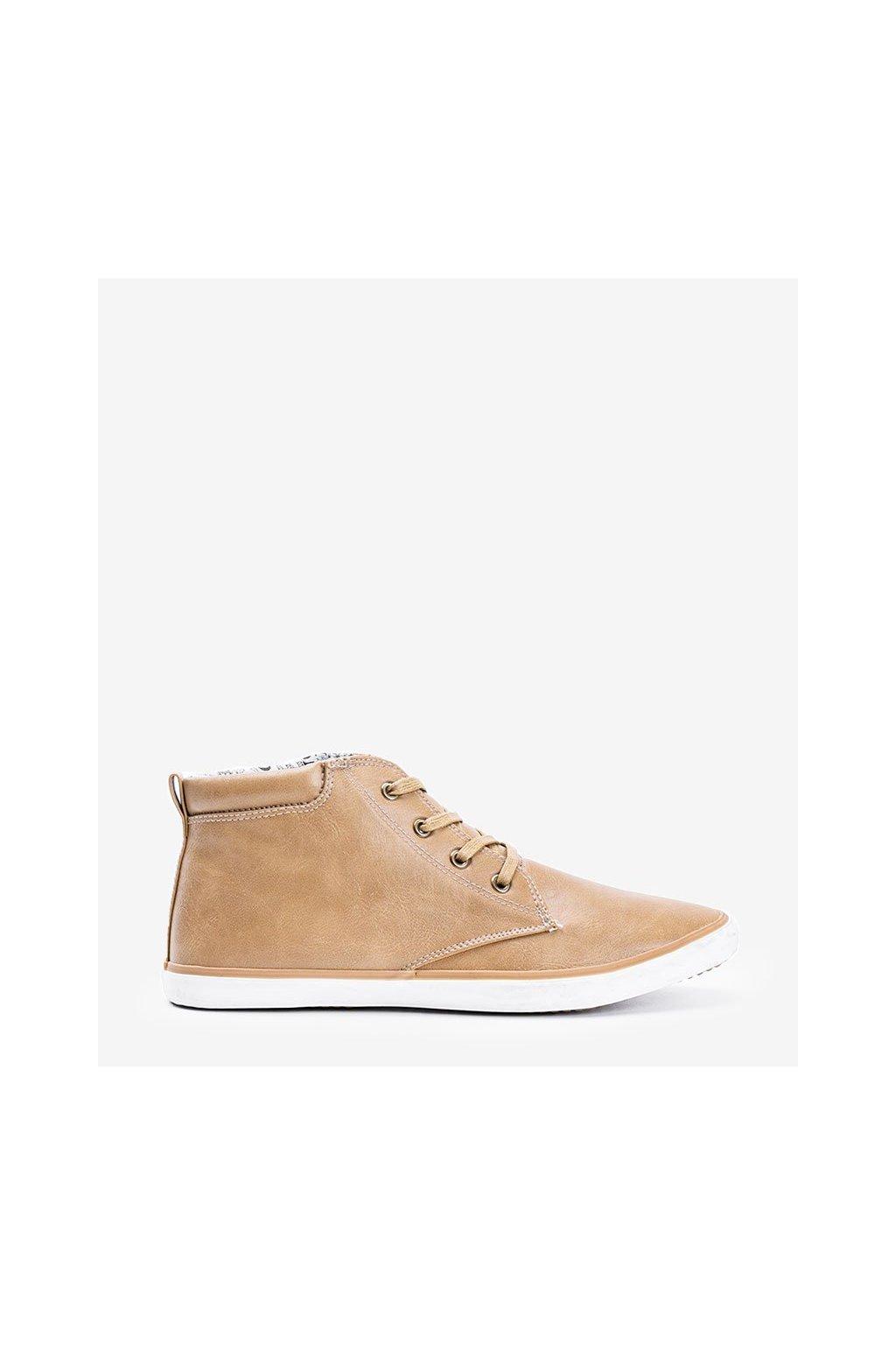 Pánske topánky tenisky hnedé kód 004 - GM