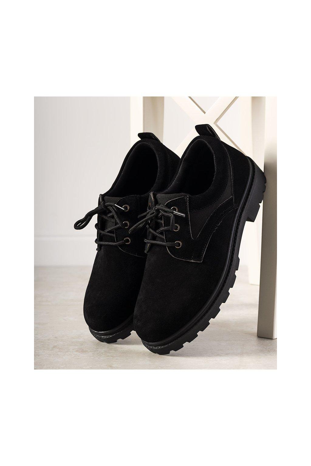Pánske topánky tenisky čierne kód 29016 - GM