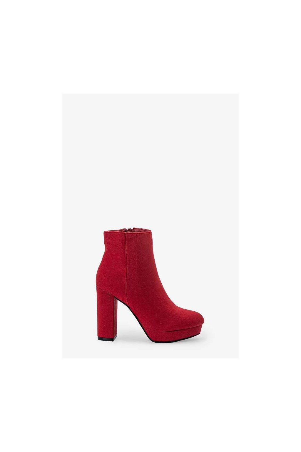 Dámske členkové topánky červené kód - GM