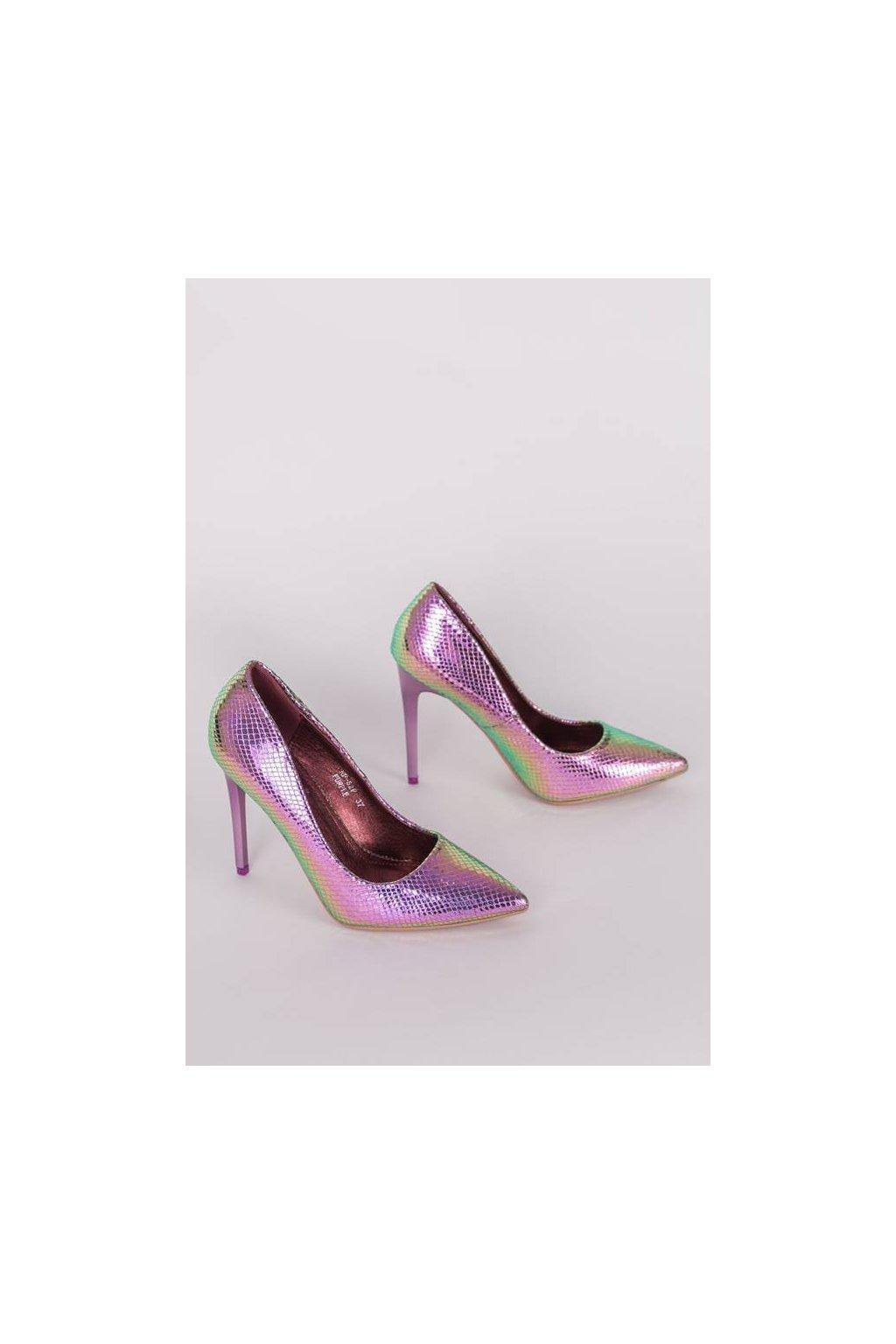 Dámske topánky lodičky ružové kód - GM