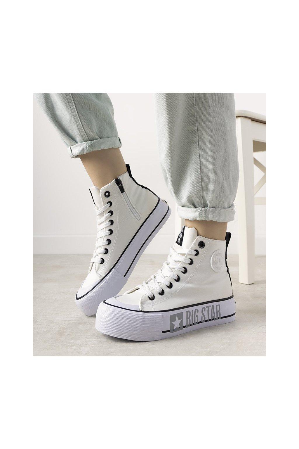 Dámske topánky BS biele kód II274014 - GM