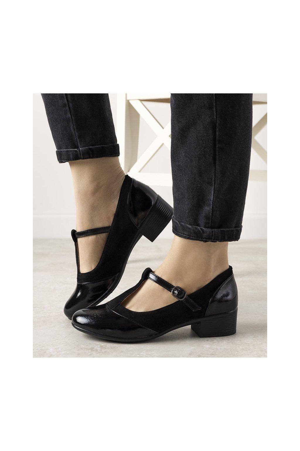 Dámske topánky lodičky čierne kód L2039-1 - GM
