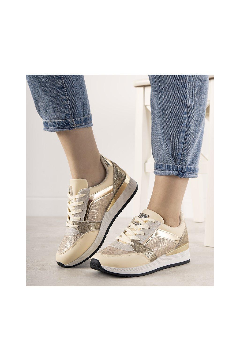 Dámske topánky tenisky hnedé kód 21SP26-4275 - GM