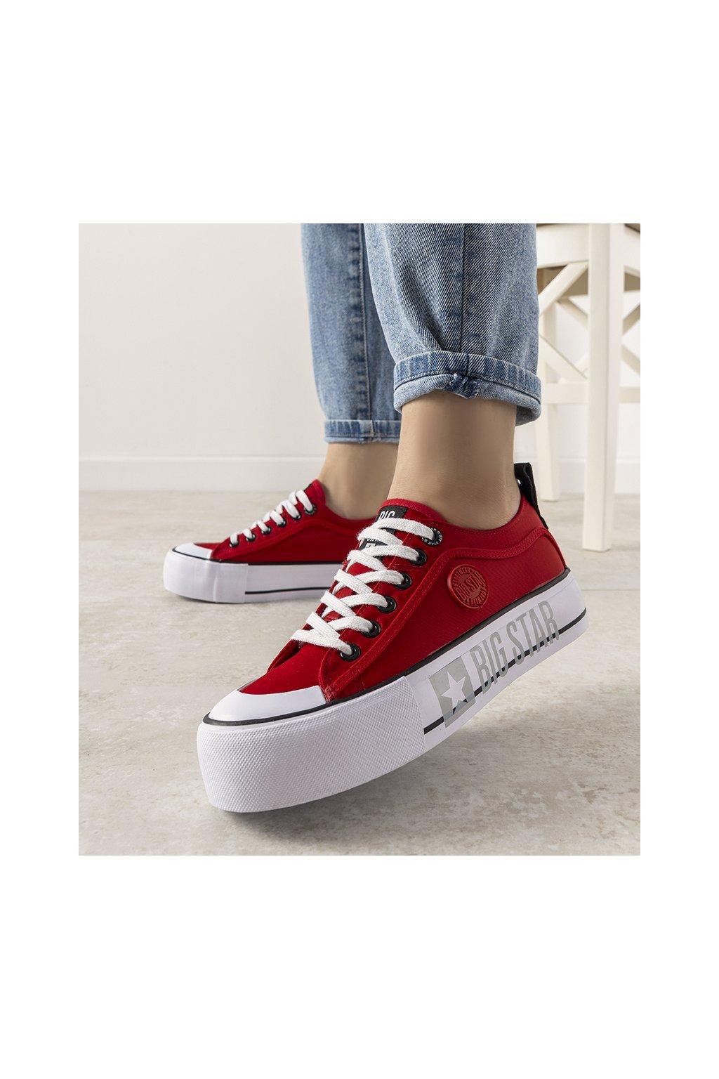 Dámske topánky BS červené kód II274025 - GM