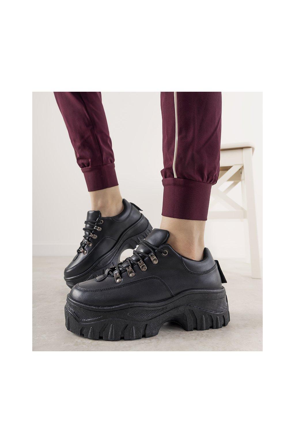 Dámske topánky tenisky čierne kód 6291 - GM