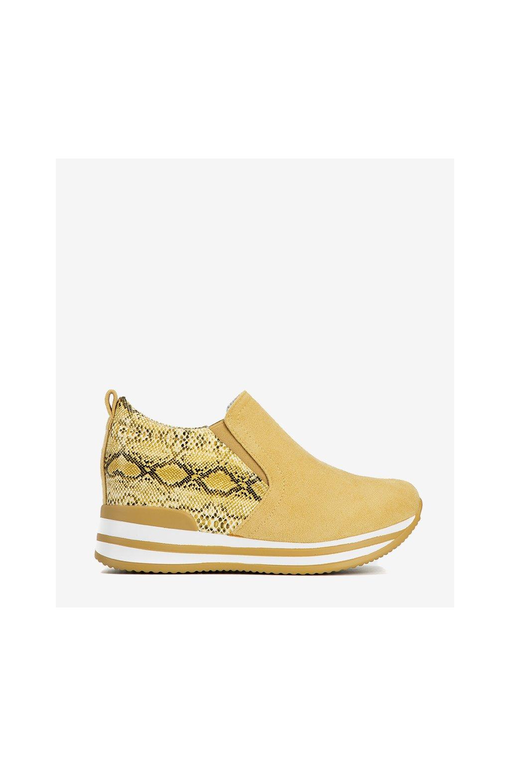 Dámske topánky tenisky žlté kód 8161-SP - GM