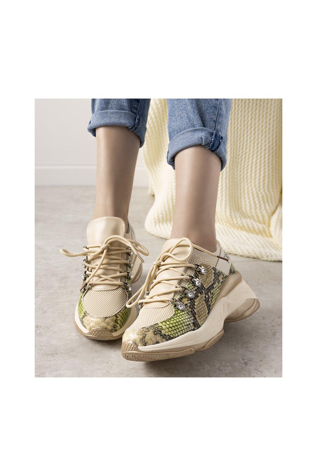 Dámske topánky tenisky hnedé kód 8195-SP - GM