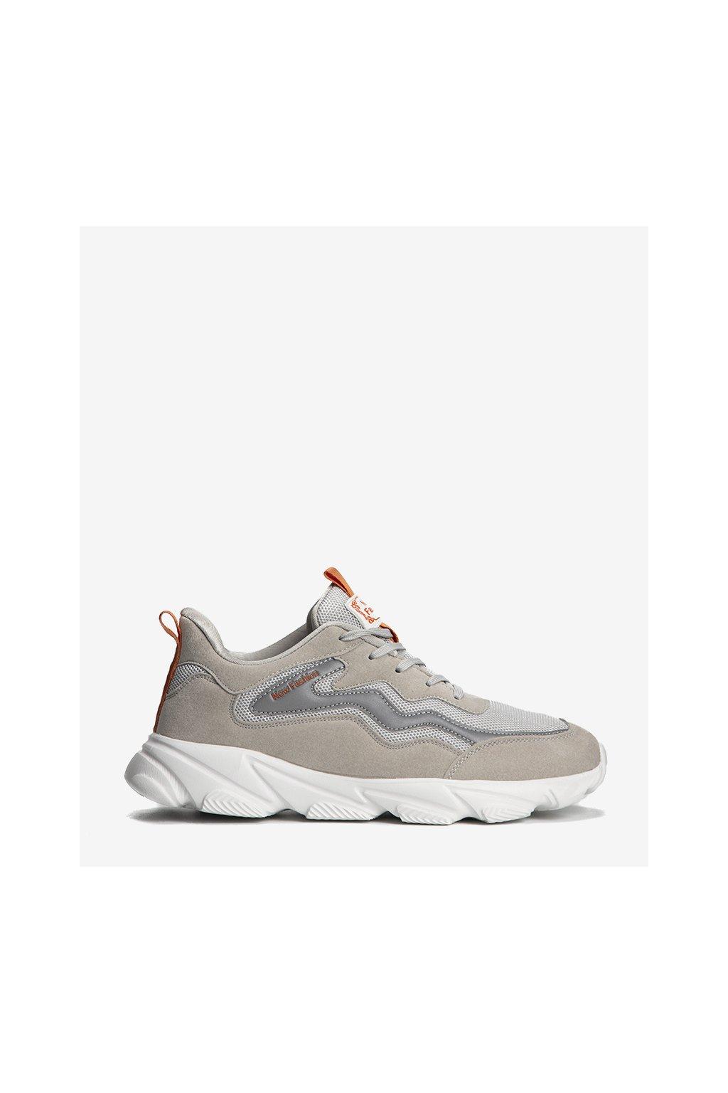 Pánske topánky tenisky sivé kód K9880-4B - GM
