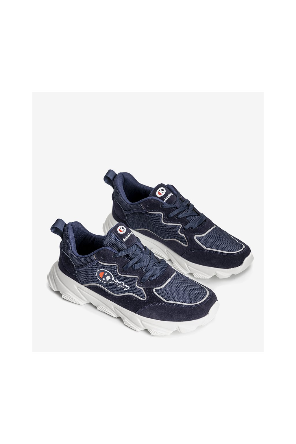 Pánske topánky tenisky modré kód K9881-3B - GM