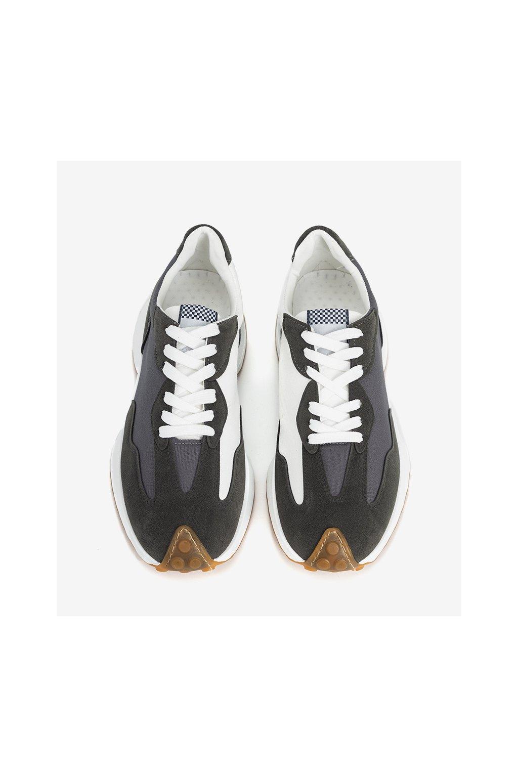 Pánske topánky tenisky sivé kód RJ113-26 - GM