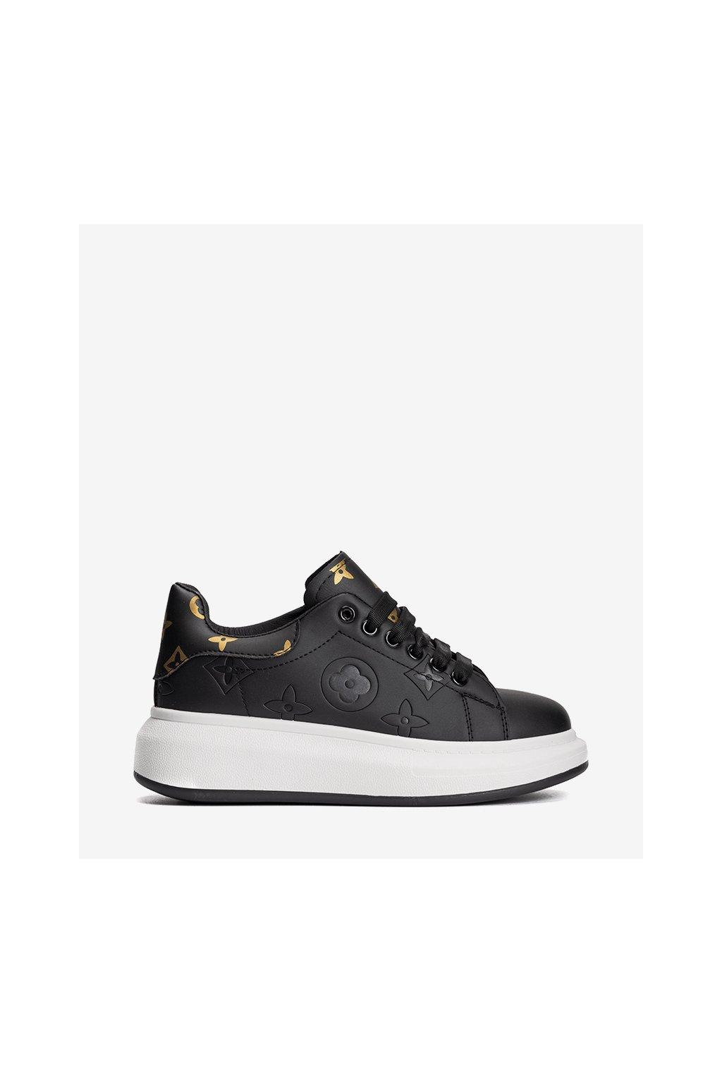 Dámske topánky tenisky čierne kód HBD26 - GM