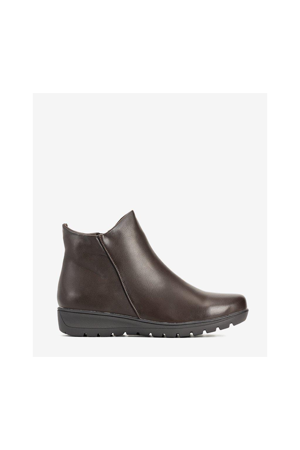 Dámske členkové topánky hnedé kód 9B1015 - GM