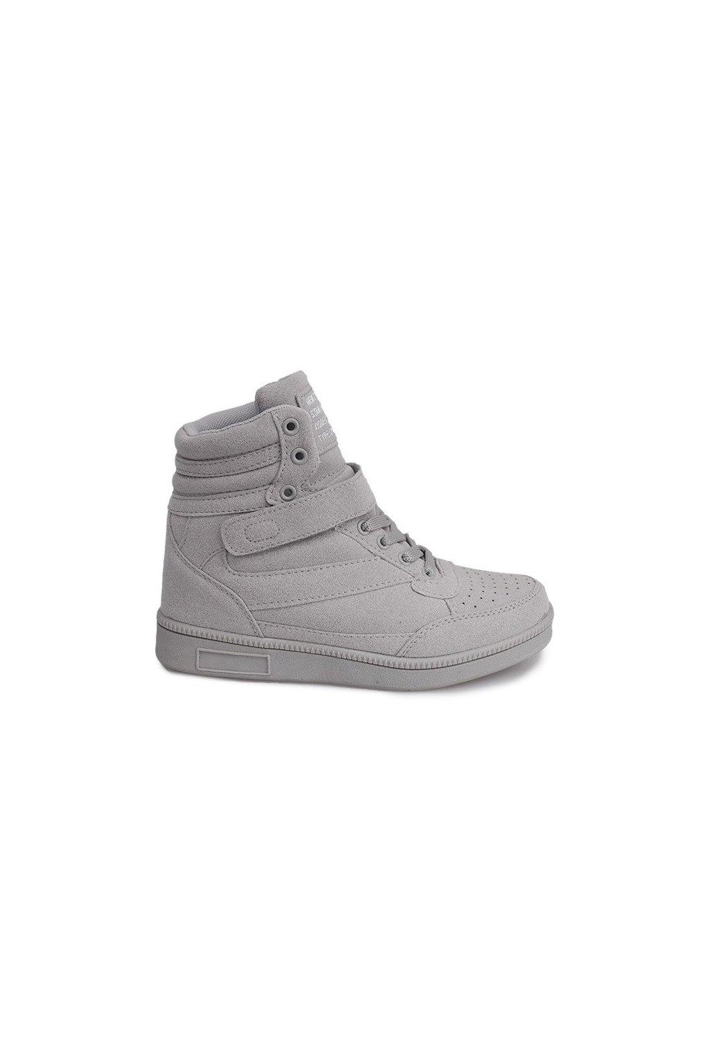 Dámske topánky tenisky sivé kód B780 - GM