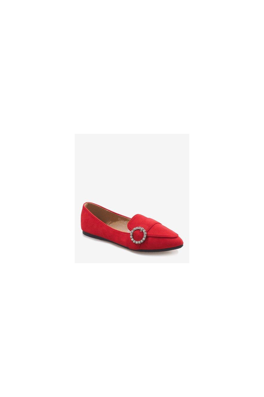 Dámske topánky mokasíny červené kód DY-01 R - GM