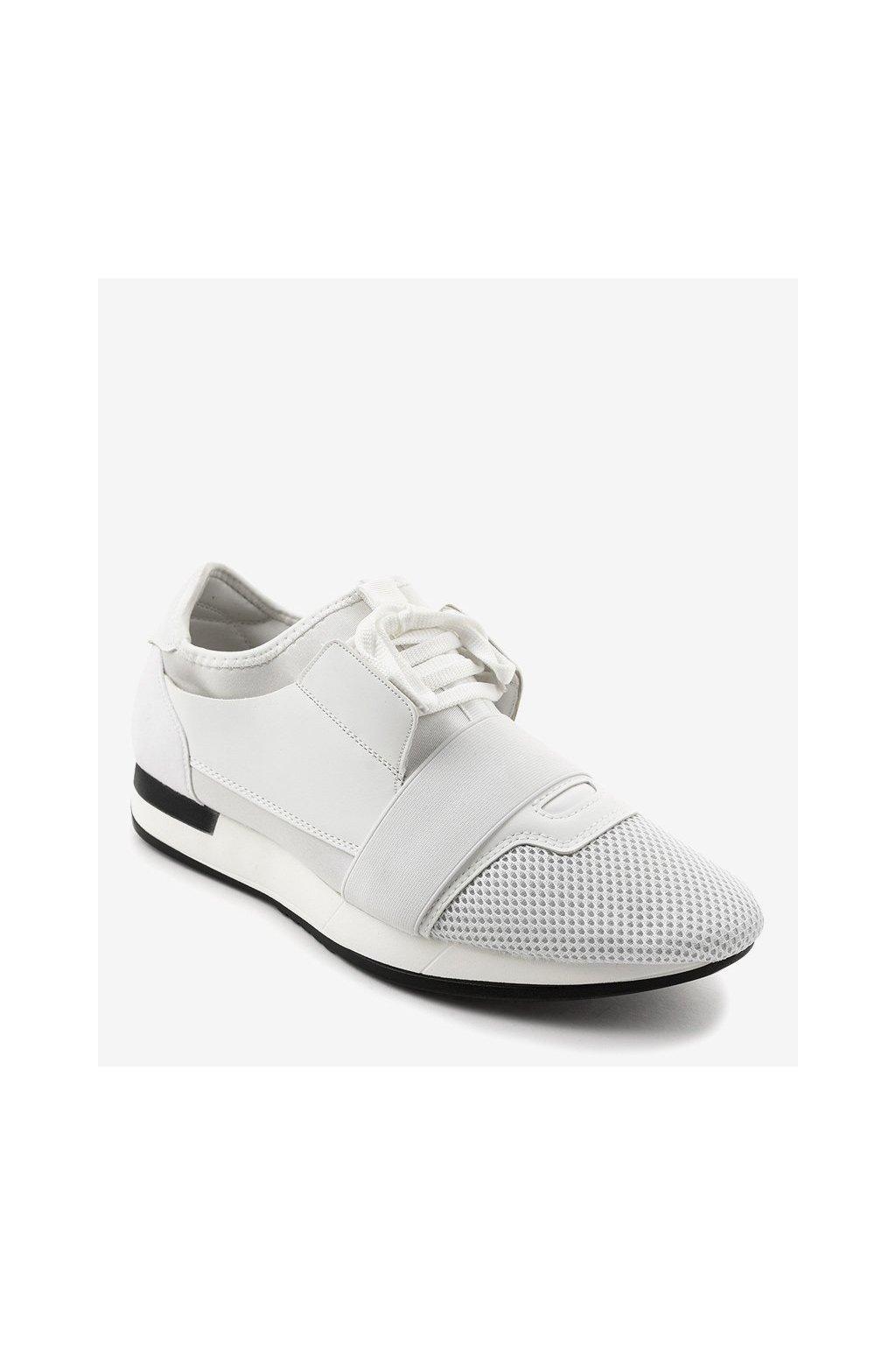 Pánske topánky tenisky biele kód B18-101 WHITE - GM