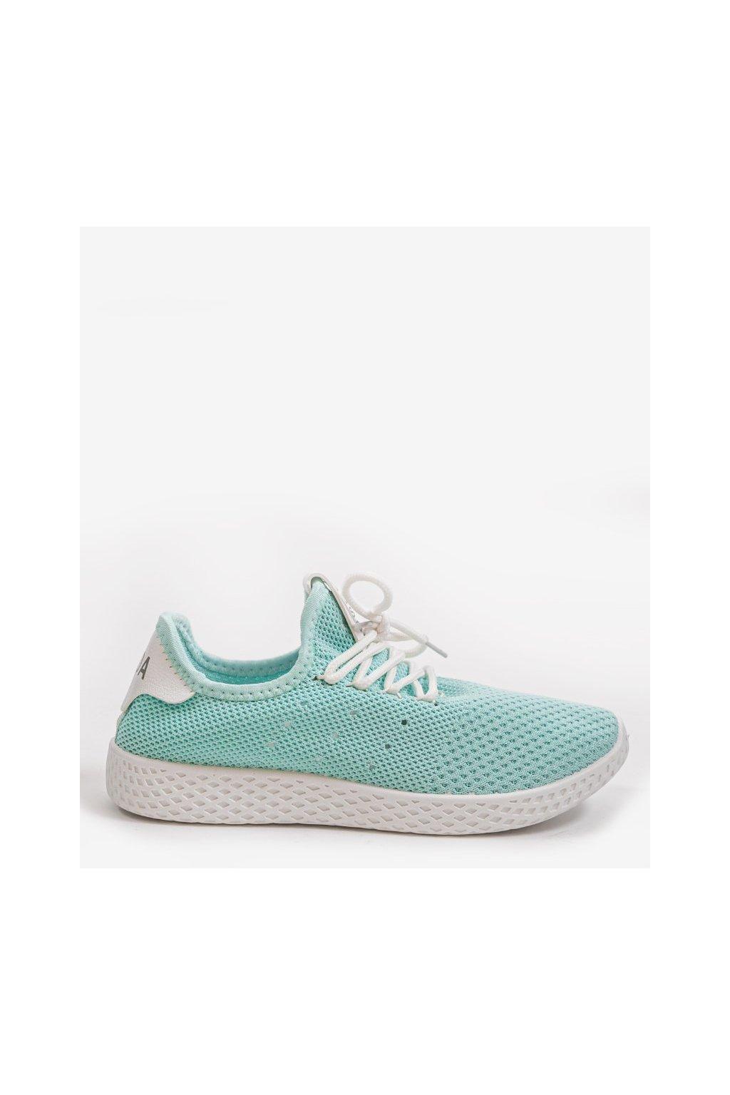 Dámske topánky tenisky modré kód H935-6 GREEN - GM