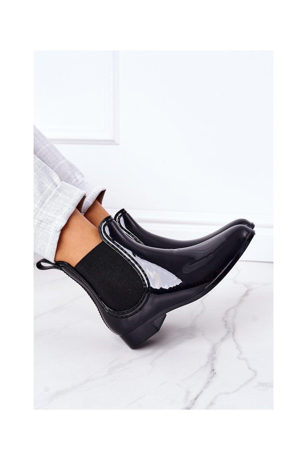 Dámske gumáky farba čierna kód obuvi HMY-9 BLACK