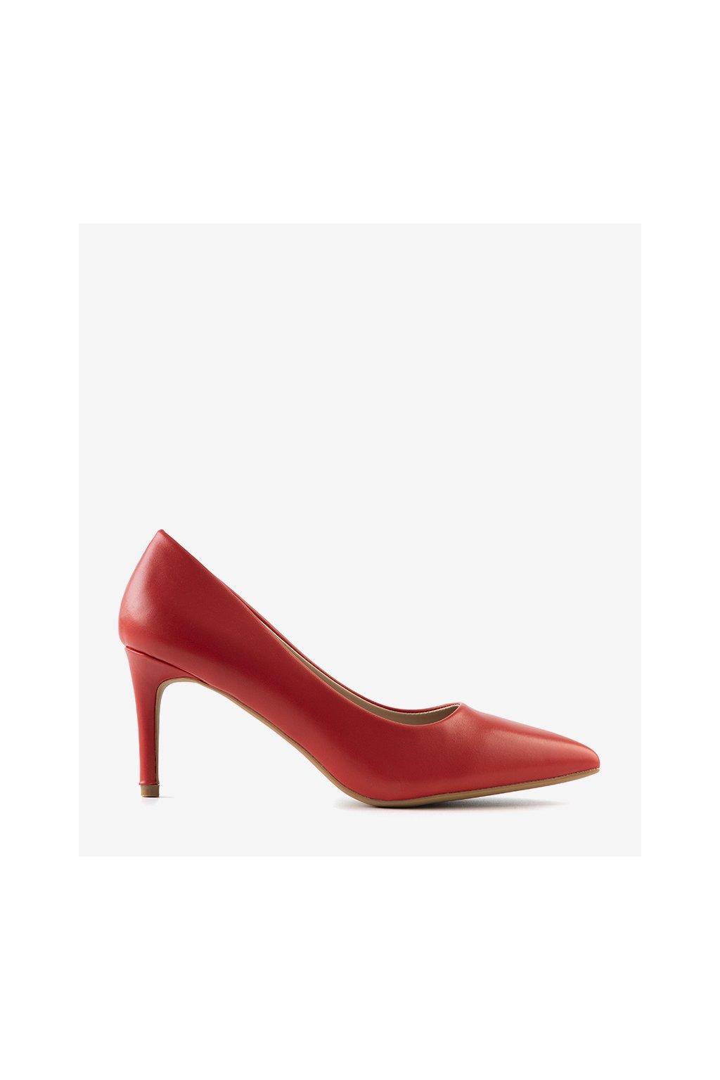 Dámske topánky lodičky červené kód CD62P - GM