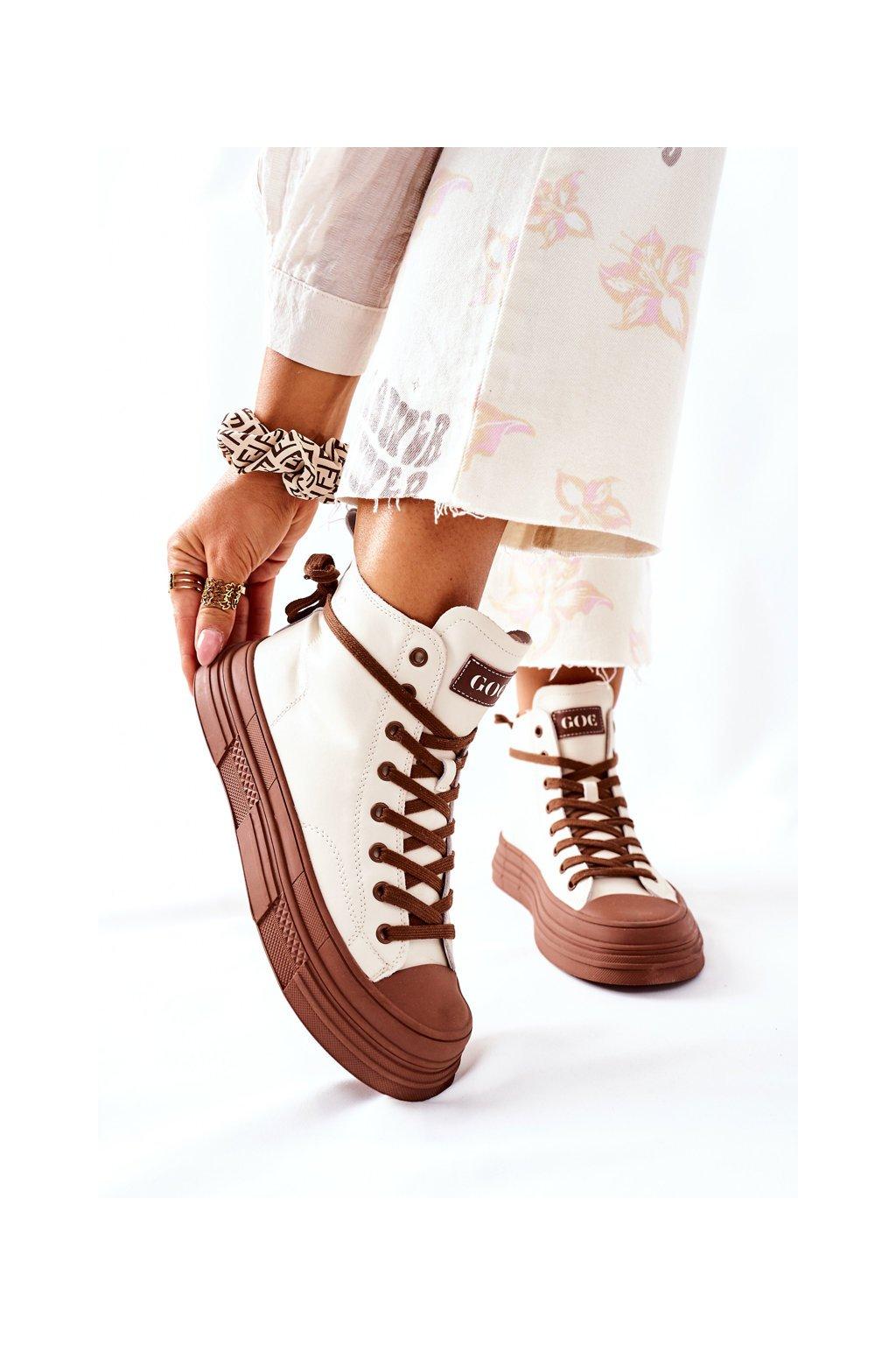 Dámske tenisky farba biela kód obuvi II2N4034 OFF WHITE/BR