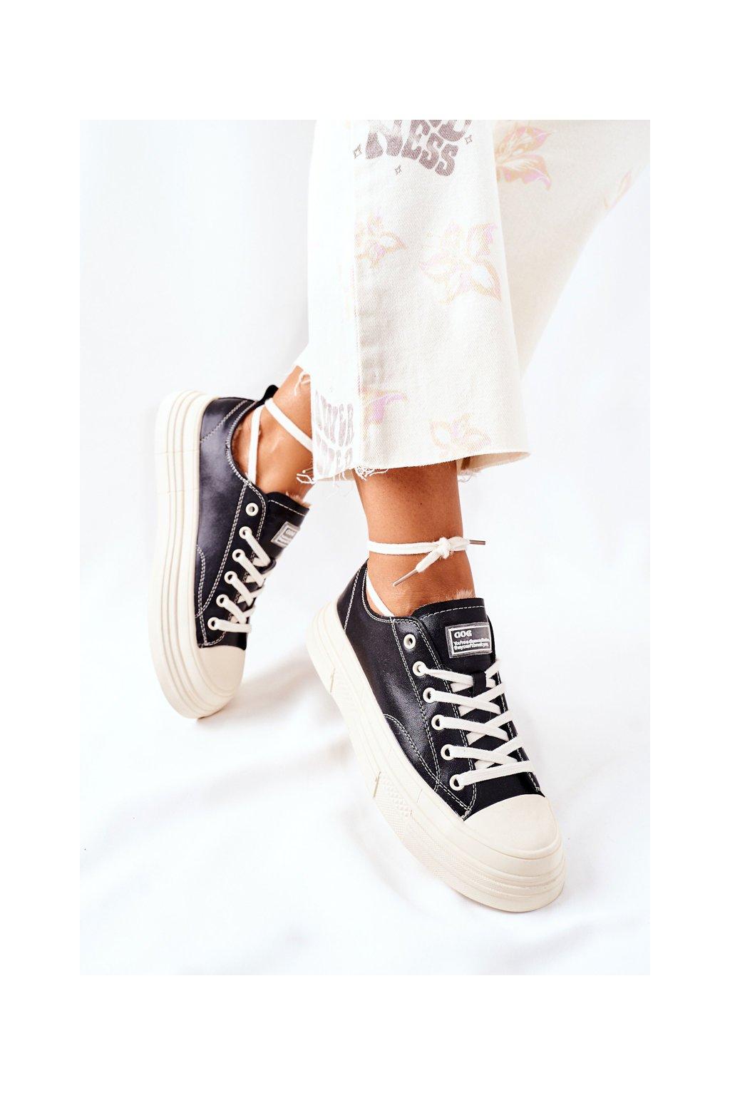Dámske tenisky farba čierna kód obuvi II2N4035 BLK