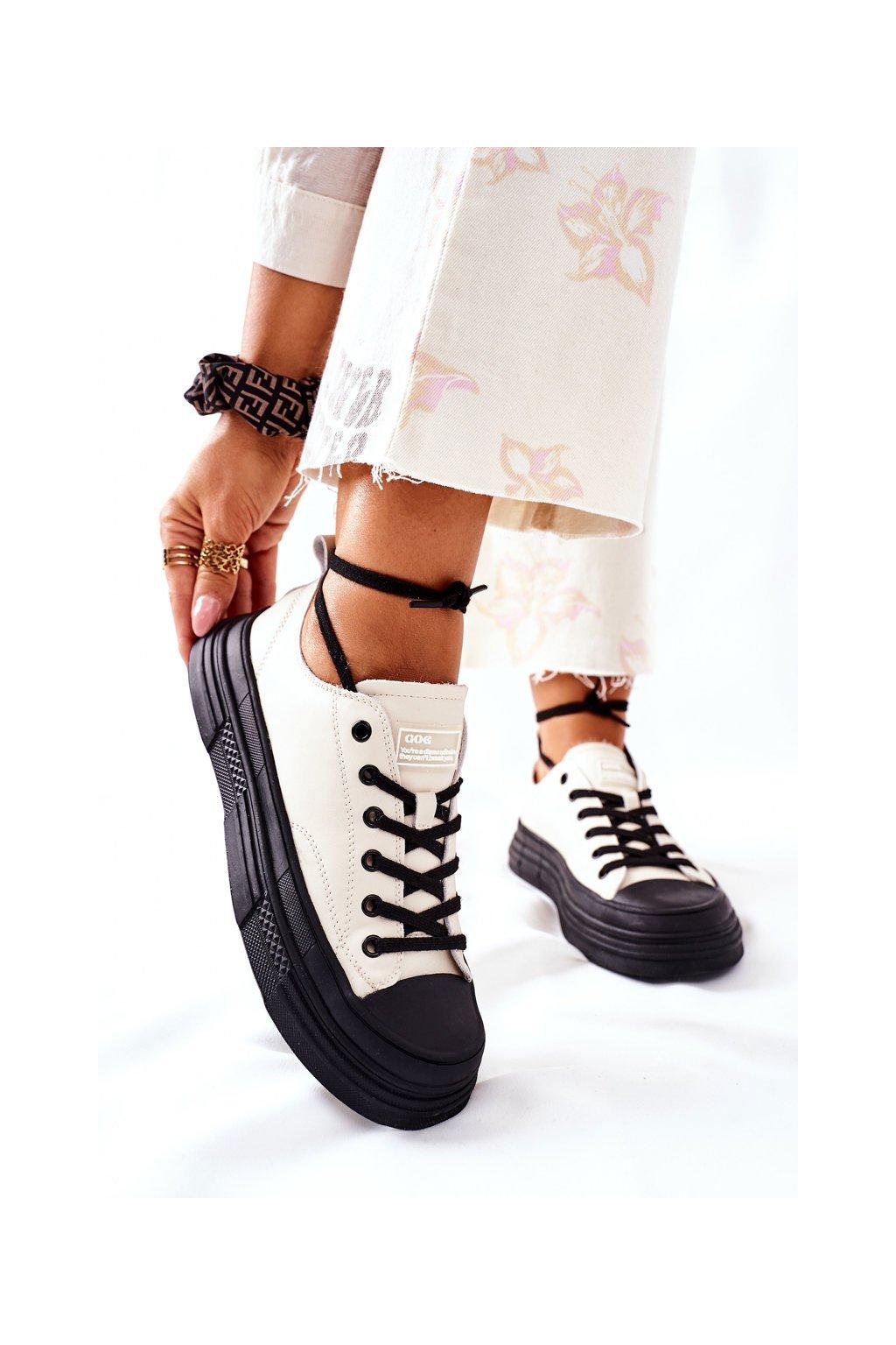 Dámske tenisky farba čierna kód obuvi II2N4036 WHITE/BLK