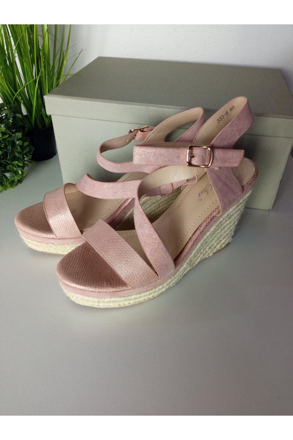 Ružové sandále NJSK 333-8