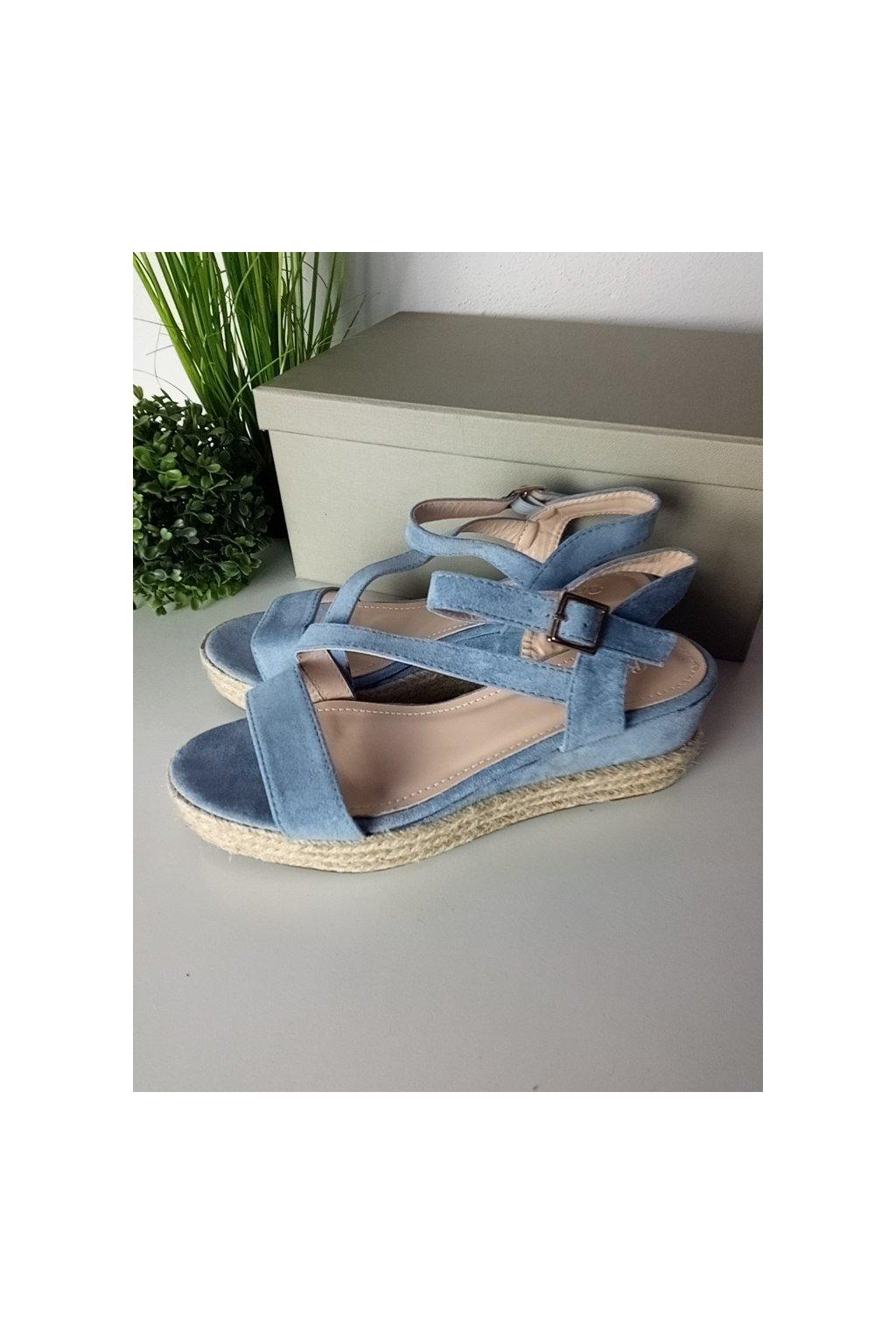 Modré sandále NJSK 680-38