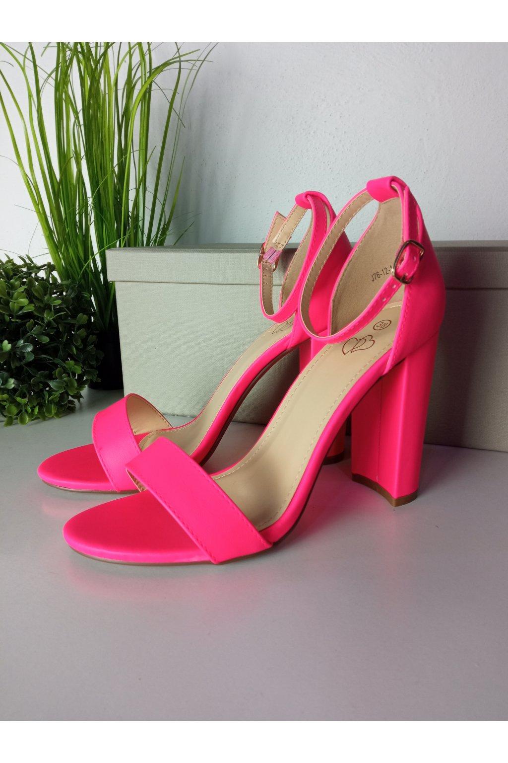 Ružové sandále NJSK J76-12