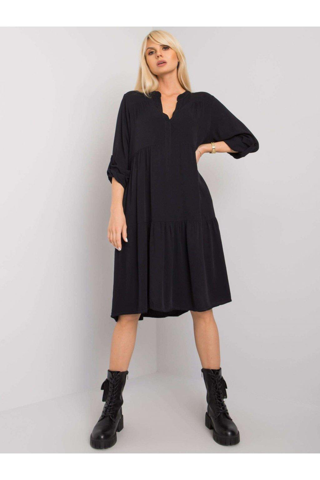 Čierne voľné šaty kód TW-SK-BI-5S1282.21X