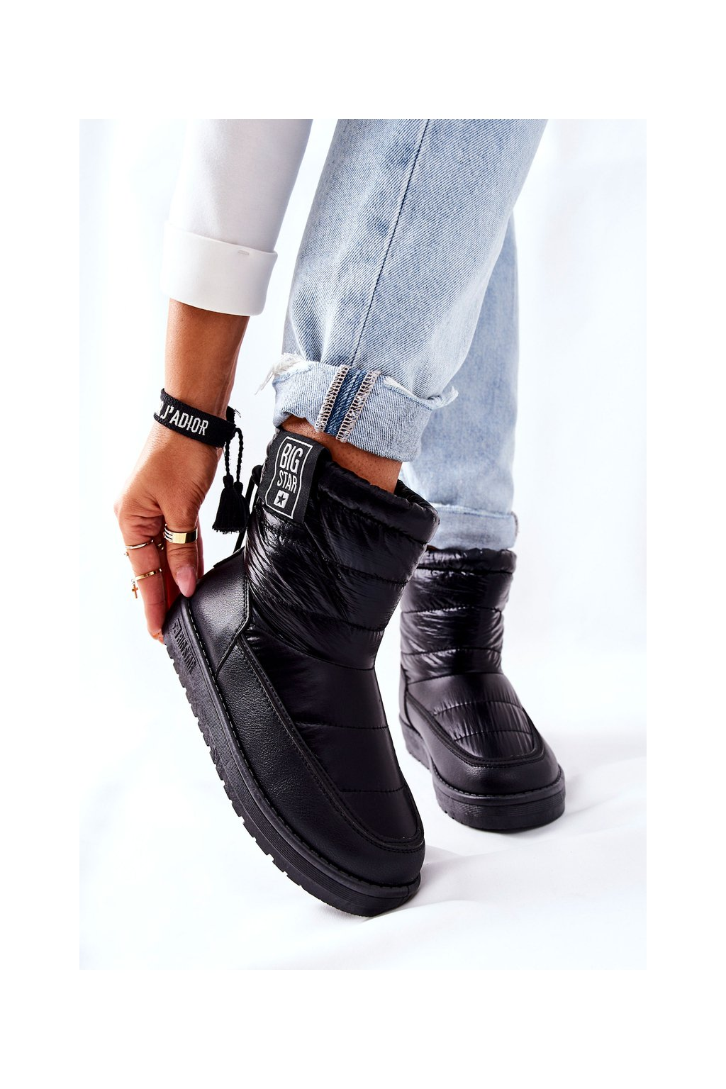 Dámske snehule farba čierna kód obuvi II274120 BLK