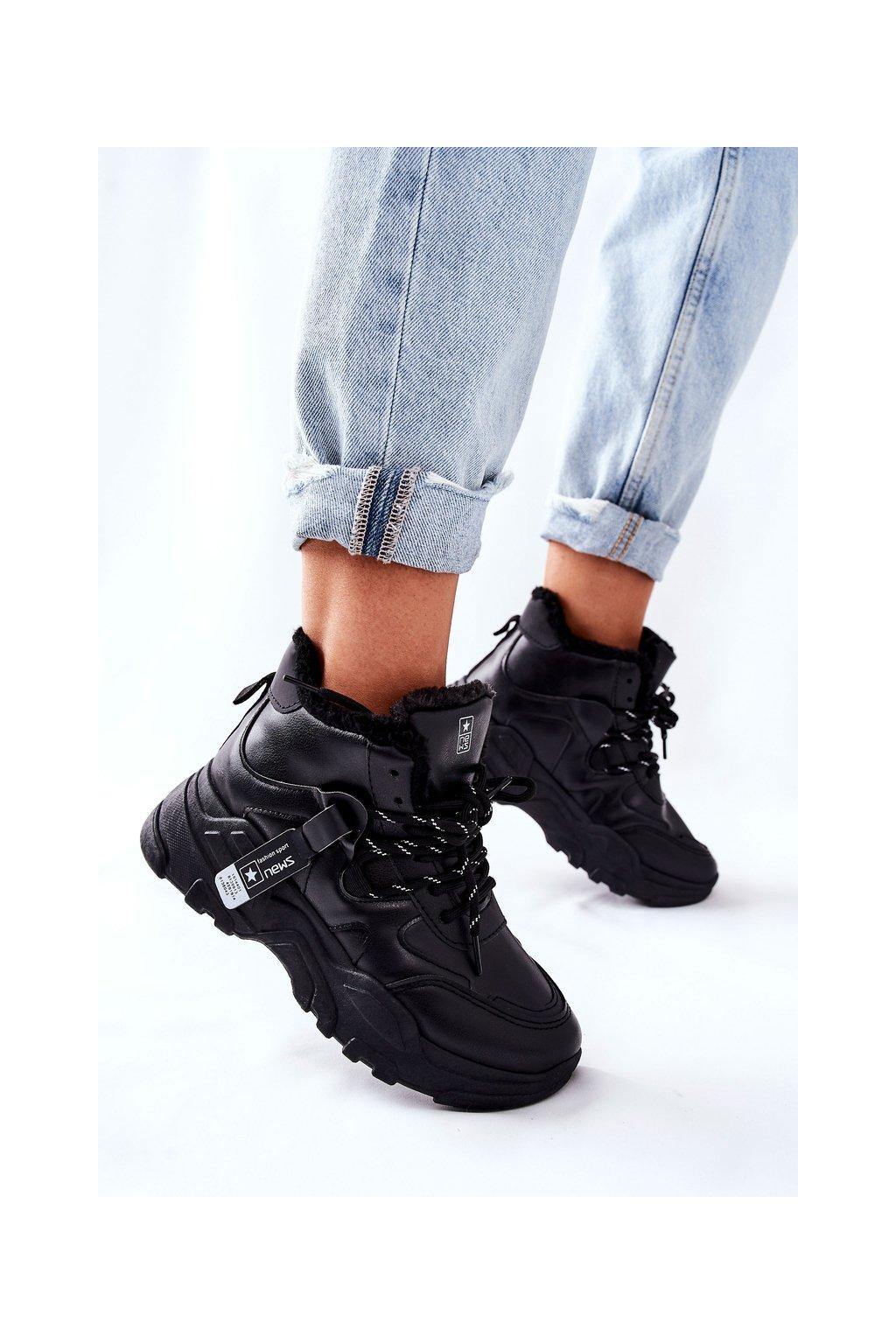 Dámske tenisky farba čierna kód obuvi 21BT26-4356 BLK