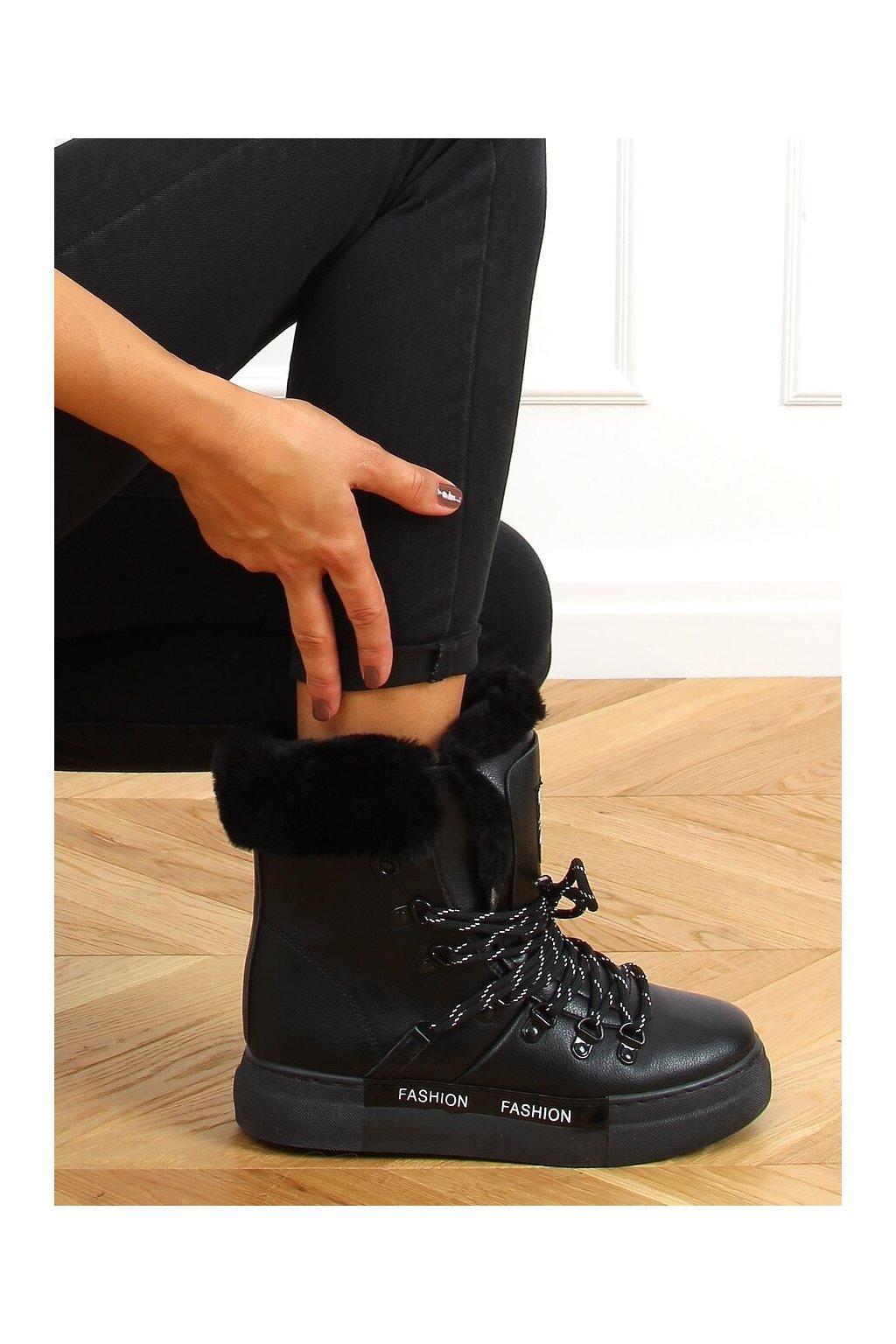 Dámske topánky na zimu čierne 2C9XX835-5