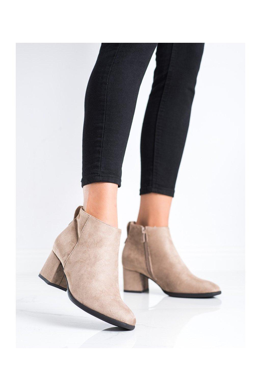 Hnedé dámske topánky Vinceza kod HX22-16240BE