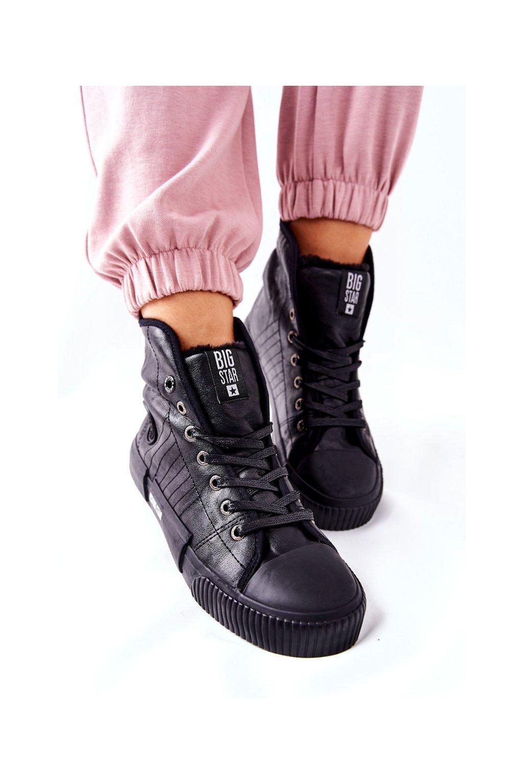 Dámske tenisky farba čierna kód obuvi II274155 BLK