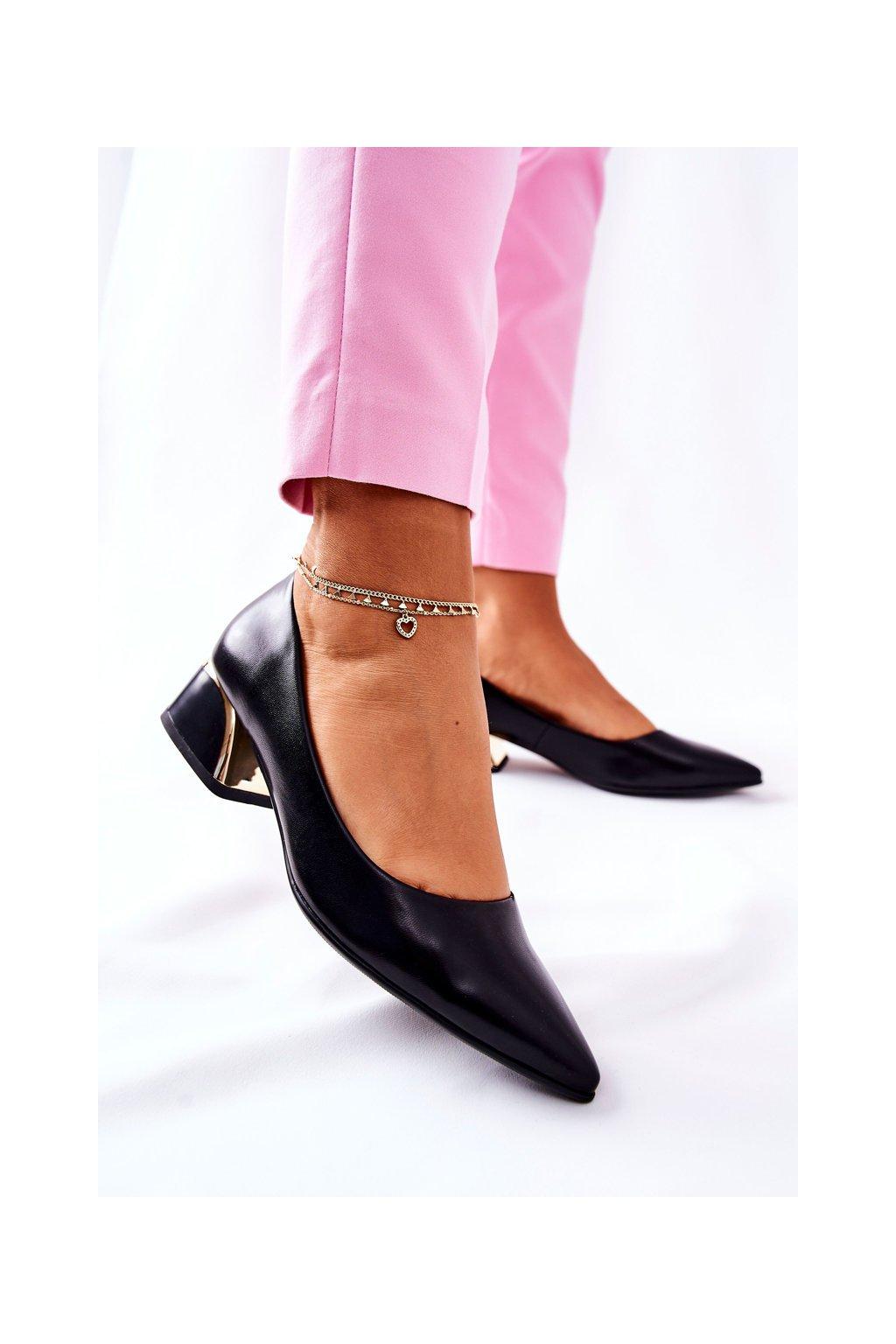 Dámske lodičky farba čierna kód obuvi 7240 BLK