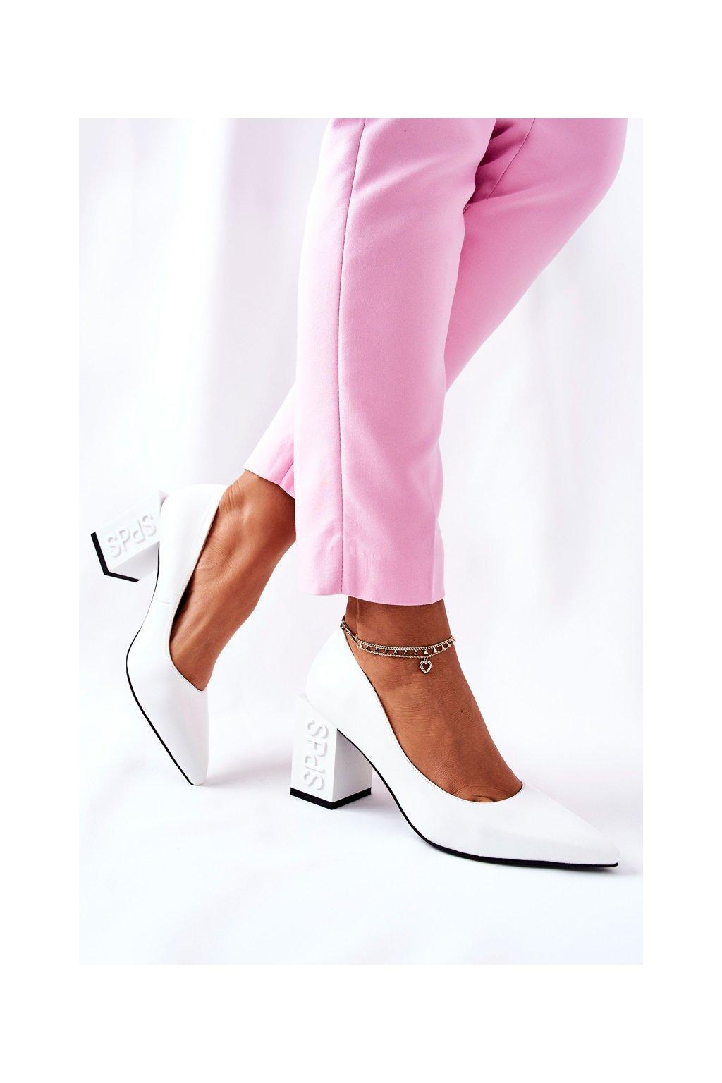 Dámske lodičky farba biela kód obuvi F569 WHT