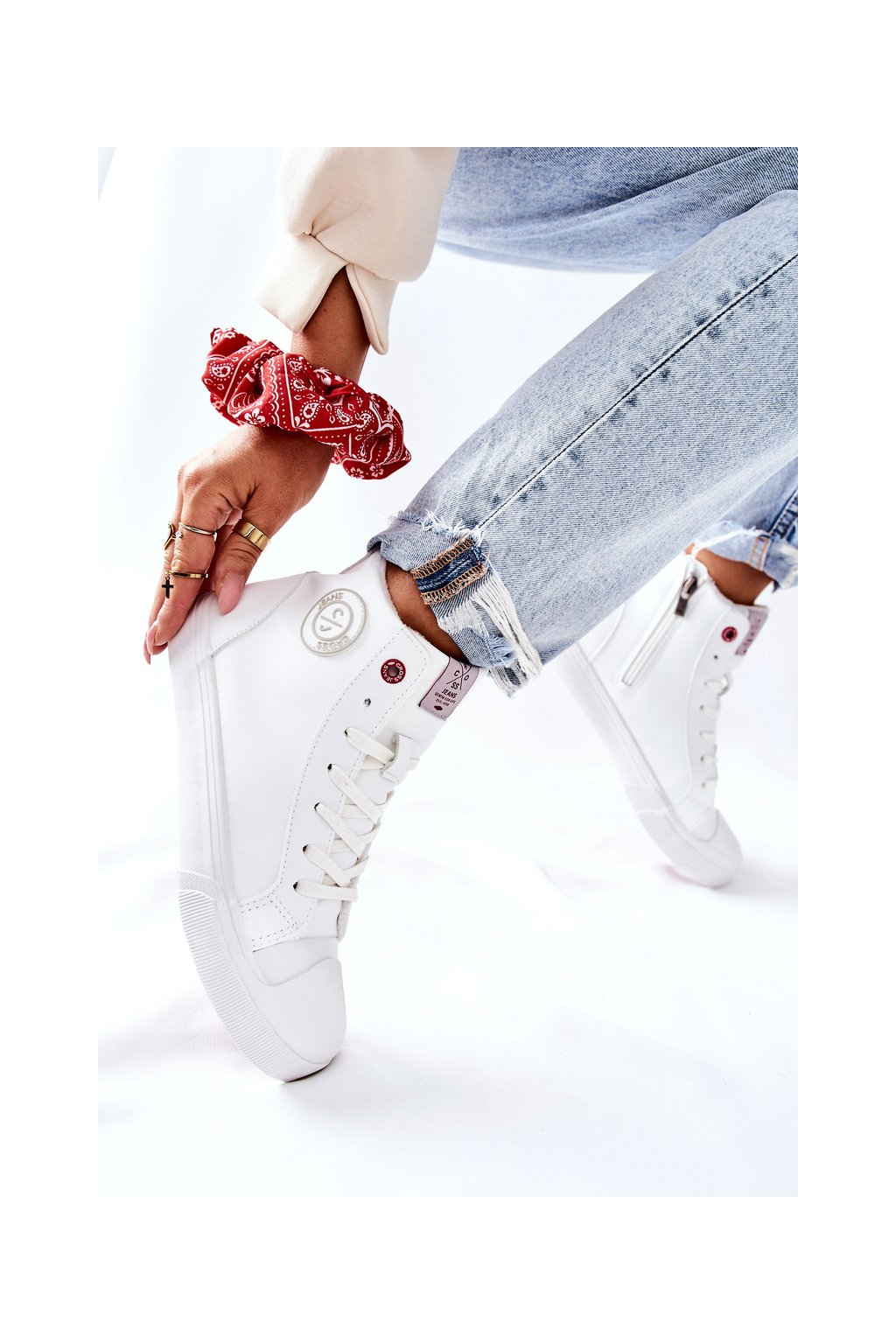 Dámske tenisky farba biela kód obuvi II2R4010C WHITE