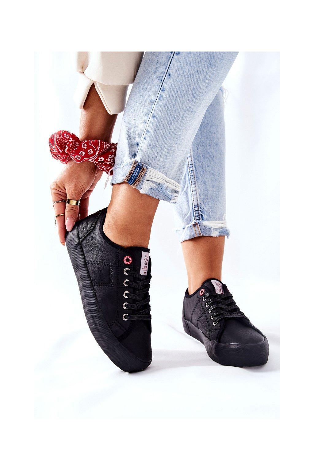 Dámske tenisky farba čierna kód obuvi II2R4003C BLK
