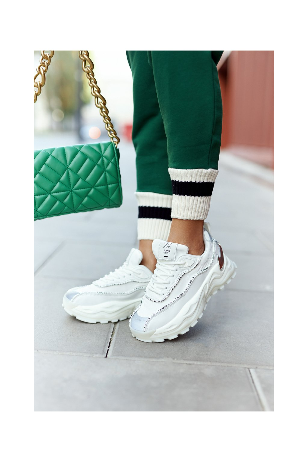 Dámske tenisky farba biela kód obuvi II2R4017C WHITE