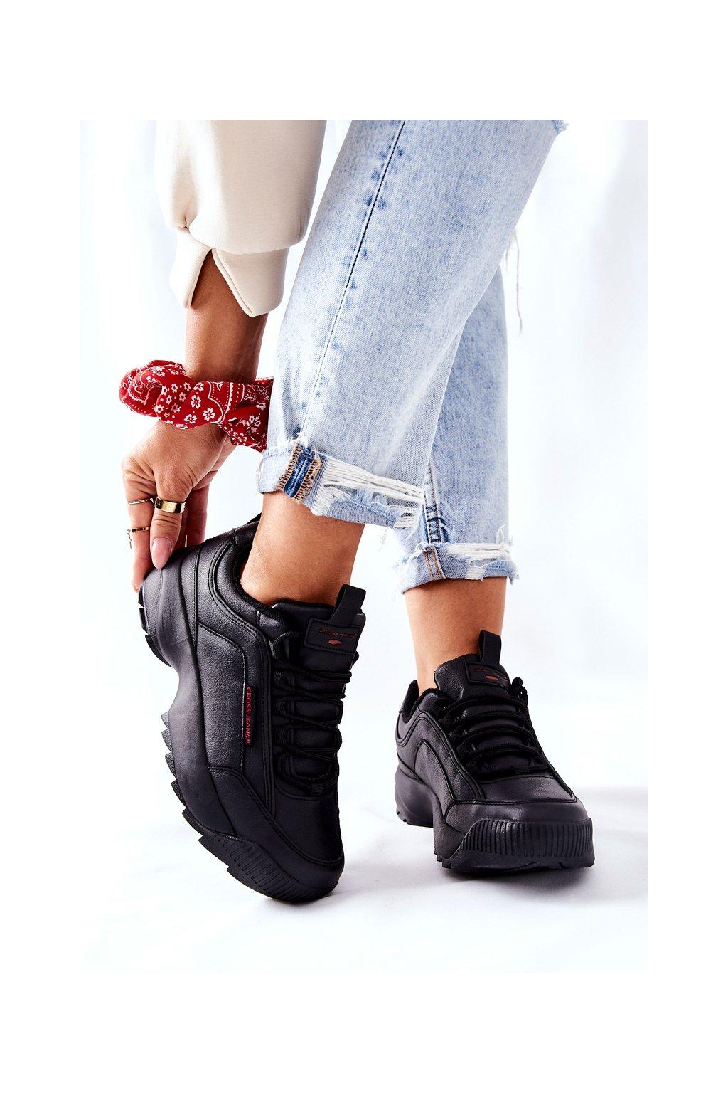 Dámske tenisky farba čierna kód obuvi EE2R4134C BLK