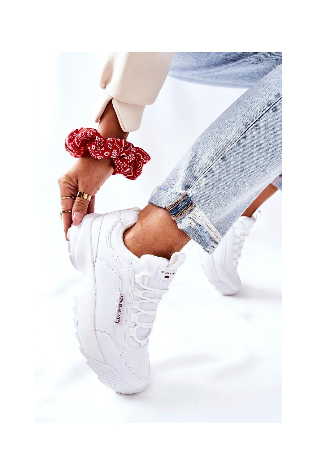 Dámske tenisky farba biela kód obuvi EE2R4133C WHT