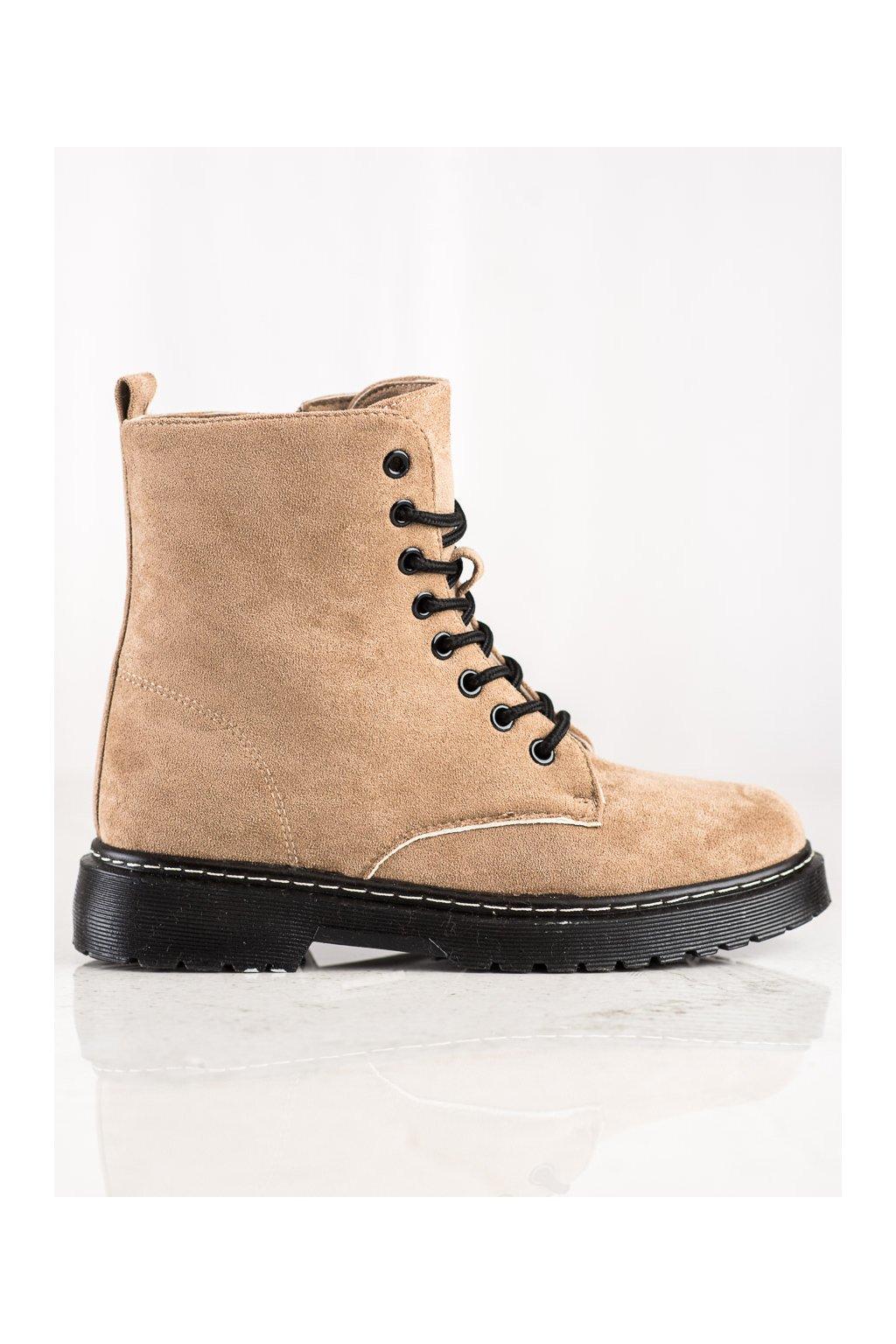 Členkové dámske topánky khaki Shelovet NJSK LT217KH