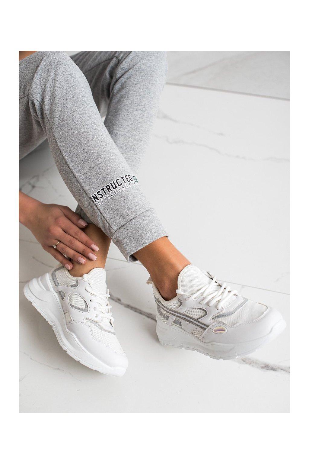 Biele dámske tenisky Trendi kod BO-560W