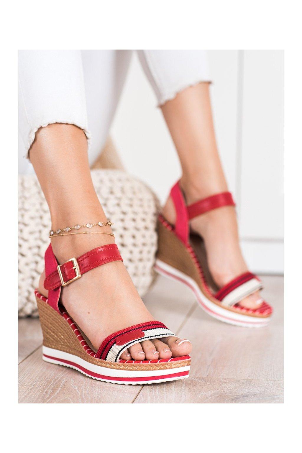 Červené dámske sandále Shelovet kod A89832R