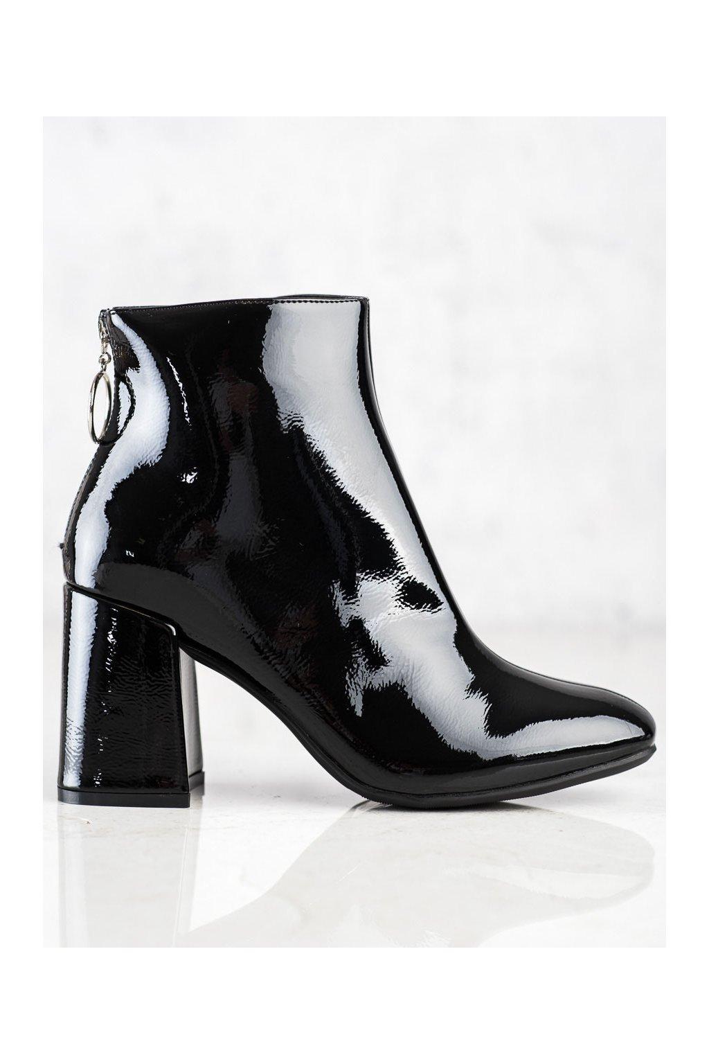 Čierne dámske topánky Lucky shoes kod A-323B