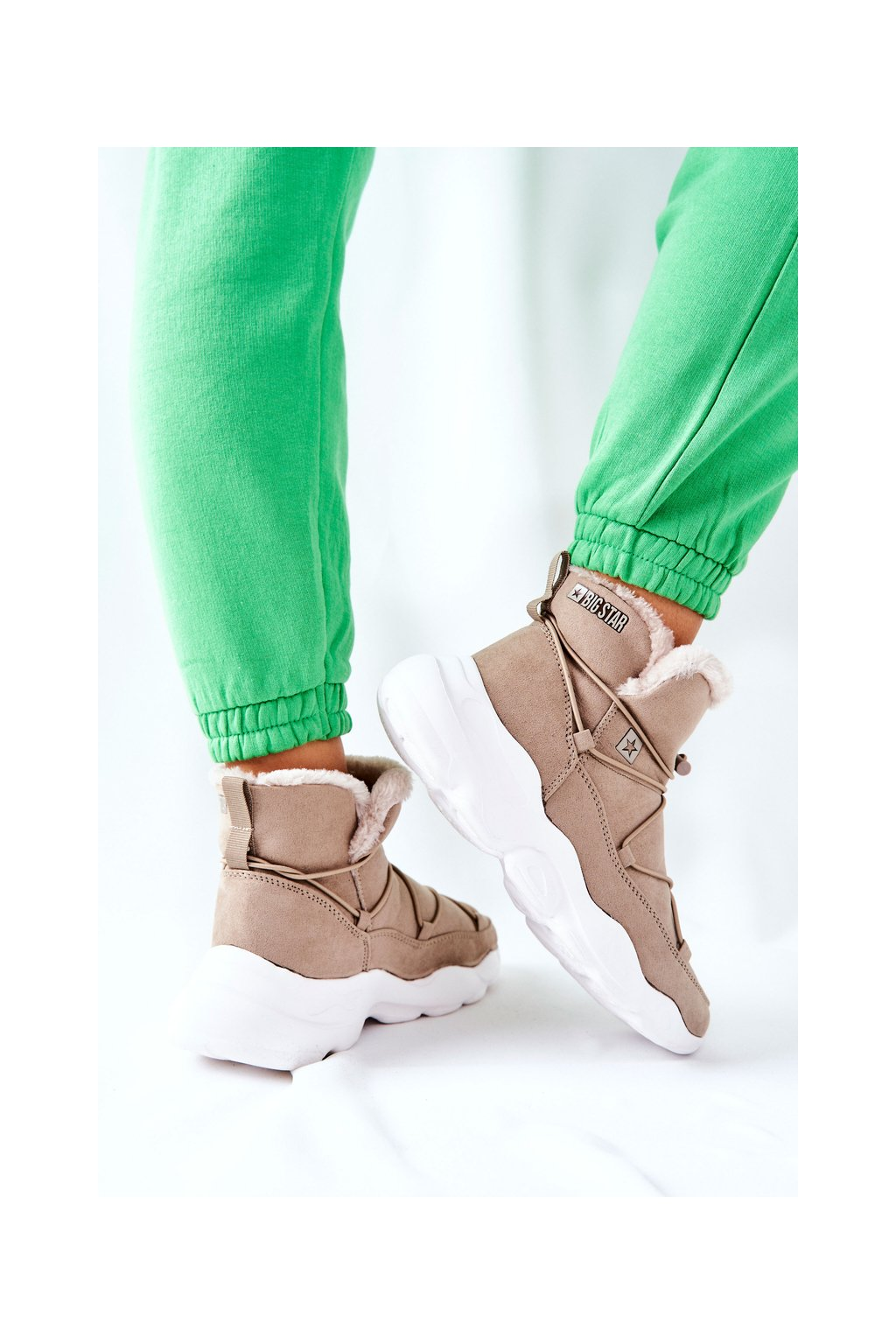 Dámske snehule farba hnedá kód obuvi II274263 BEIGE