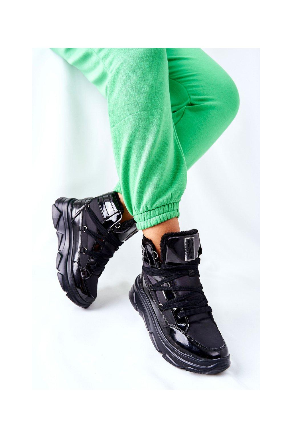 Dámske snehule farba čierna kód obuvi II274311 BLK